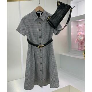 クリスチャンディオール(Christian Dior)のDior ワンピース ドレス ショート 千鳥格子 (ミニワンピース)