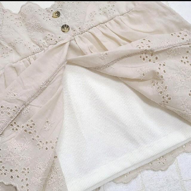新作 ママラク レース トップス キッズ/ベビー/マタニティのキッズ服女の子用(90cm~)(Tシャツ/カットソー)の商品写真