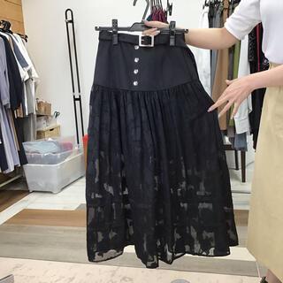 レディアゼル(REDYAZEL)の【同梱限定】 レディアゼル フラワーオーガンスカート 黒(ロングスカート)