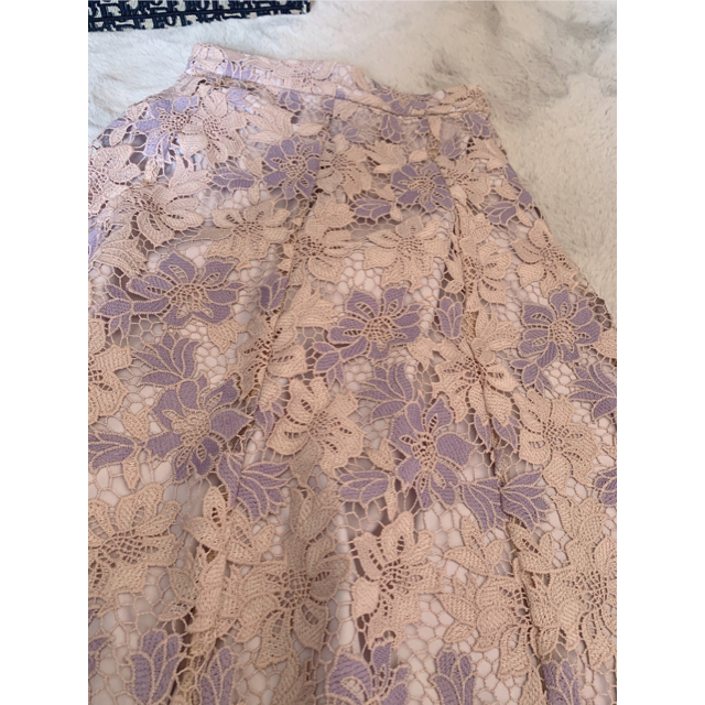 PROPORTION BODY DRESSING(プロポーションボディドレッシング)のケミカルフラワーレースフレアスカート レディースのスカート(ひざ丈スカート)の商品写真