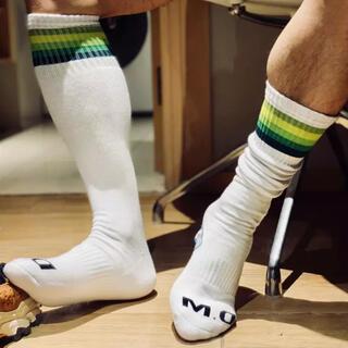 レインボーソックス 厚手靴下 白