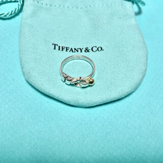 Tiffany & Co. - Tiffany & Co. ラブノット フック&アイ リング 指輪 10号