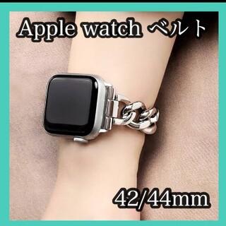AppleWatch アップルウォッチ ベルト チェーンベルト  シルバー
