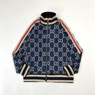 Gucci - GGジャカードフルプリントロゴジャケットジッパーコート