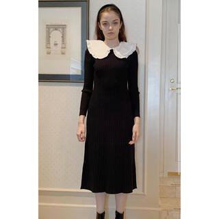 snidel - エピヌ epine rib knit long onepiece black
