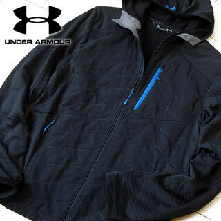 UNDER ARMOUR - 美品 M アンダーアーマー メンズ FITTED パーカージャケット ブラック