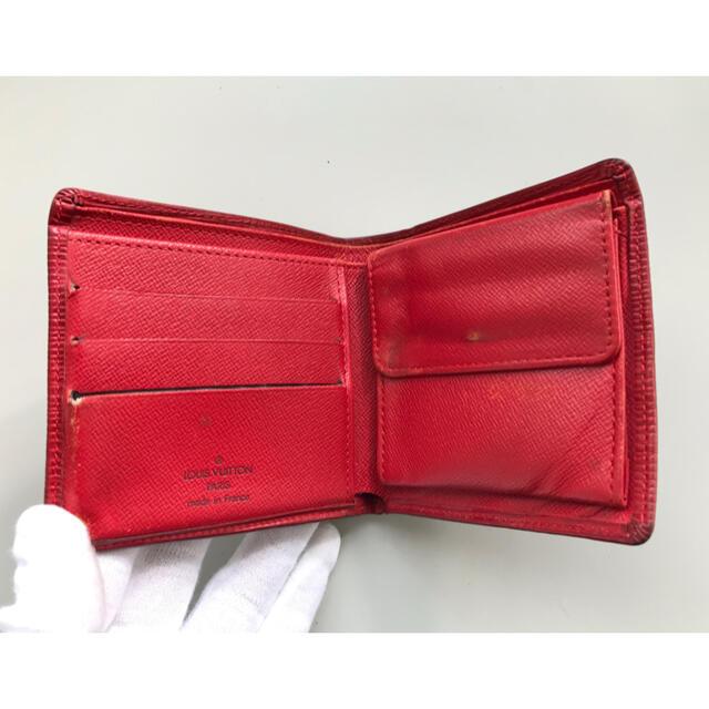 LOUIS VUITTON(ルイヴィトン)の正規品 ルイヴィトン 折り財布 男女 レッド レディースのファッション小物(財布)の商品写真