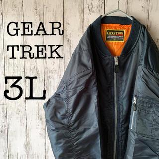 【GEAR TREK×MA-1】古着 90's メンズ アウター ブルゾン 紺色(ブルゾン)