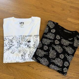 ユニクロ(UNIQLO)のユニクロ Tシャツ2枚セット  S(Tシャツ/カットソー(半袖/袖なし))
