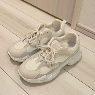 adidas - アイボリー厚底スニーカー