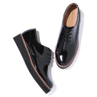 アダムエロぺ(Adam et Rope')のアダムエロペ 厚底レースアップシューズ ブラック 23cm(ローファー/革靴)