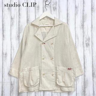 スタディオクリップ(STUDIO CLIP)の【studio  CLIP】リネン混ジャケット スタディオクリップ(その他)