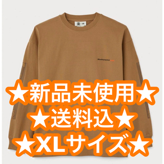 H&M - BLACK EYE PATCH H&M 長袖コットンTシャツ ブラックアイパッチ