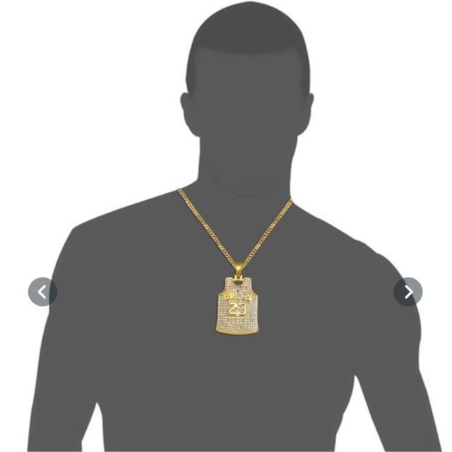 【即日発送】BULLS ネックレス ブリンブリン Jordan ヒップホップ メンズのアクセサリー(ネックレス)の商品写真