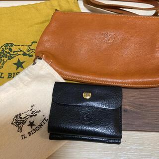 イルビゾンテ(IL BISONTE)の美品 イルビゾンテ ショルダーバッグ がま口 財布 値下げ(財布)