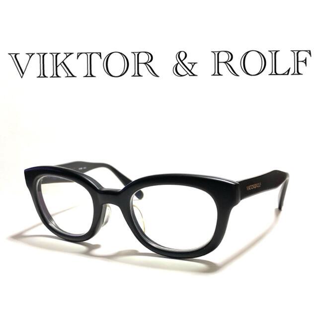 VIKTOR&ROLF(ヴィクターアンドロルフ)の送料込 極美品 国内正規品 VIKTOR & ROLF メガネフレーム メンズのファッション小物(サングラス/メガネ)の商品写真