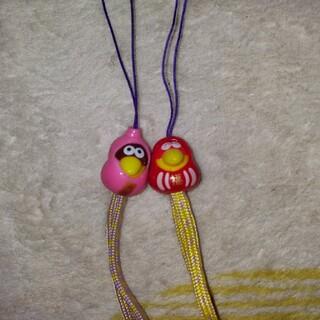 モリナガセイカ(森永製菓)のキョロちゃんストラップ  2個セット 非売品(キャラクターグッズ)