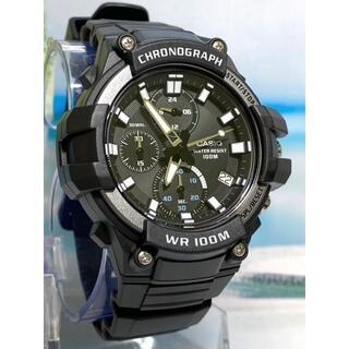 カシオ(CASIO)の腕時計 アナログ クオーツ クロノグラフ 10気圧防水 ラバーベルト ブラック (腕時計(アナログ))