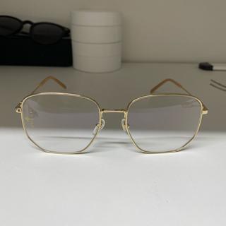 Gucci - GUCCI スクエアフレーム メタル サングラス ゴールド