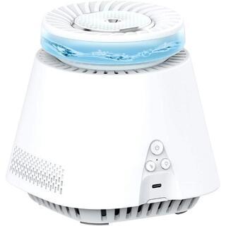 ①加湿器 空気清浄機 一台二役 空気浄化器 除菌 静音 7色LEDライト