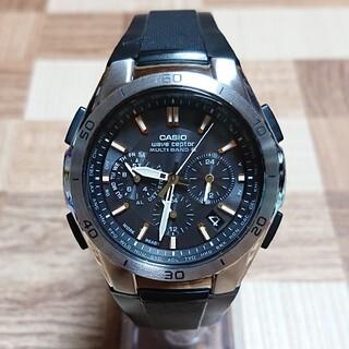 CASIO - 美品【CASIO/WAVECEPTOR】電波ソーラー クロノグラフ メンズ腕時計