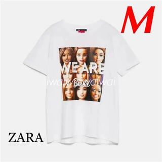 ZARA - 新品 ZARA M バービー プリント Tシャツ
