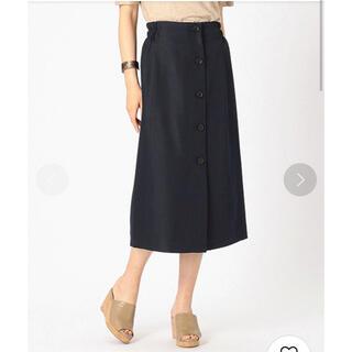 コムサイズム(COMME CA ISM)の【美品】リネンライクタイトスカート(ひざ丈スカート)
