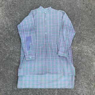 エルエルビーン(L.L.Bean)の50年代 フランス チェック グランパシャツ ビンテージ ヨーロッパ古着(シャツ)