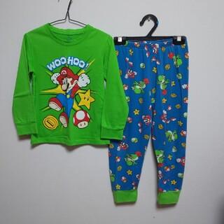 【120】スーパーマリオ★綿100%★長袖★長ズボン★上下セット★パジャマ