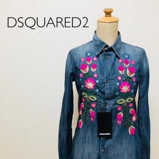 ディースクエアード(DSQUARED2)の【タグ付き】DSQUARED2 レディース  刺繍 花柄 シャツ(シャツ/ブラウス(長袖/七分))