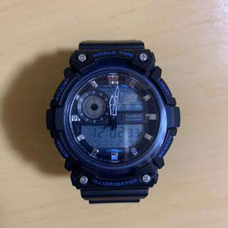 カシオ(CASIO)のカシオ 腕時計  AEQ-200W-2AJF メンズ ブラック(腕時計(デジタル))