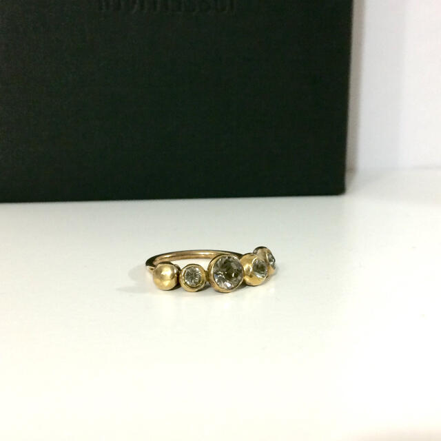 H.P.FRANCE(アッシュペーフランス)のSERGE THORAVAL セルジュトラヴァル ジルコニアリング ゴールド レディースのアクセサリー(リング(指輪))の商品写真