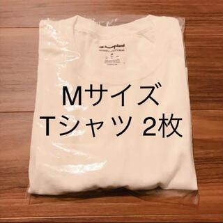 Champion - 【2枚セット】champion チャンピオン メンズ 半袖 Tシャツ 無地T 白