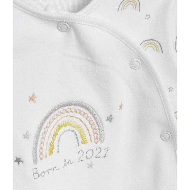 NEXT(ネクスト)の新品 Born in 2021 ロンパース 56-62cm キッズ/ベビー/マタニティのベビー服(~85cm)(ロンパース)の商品写真