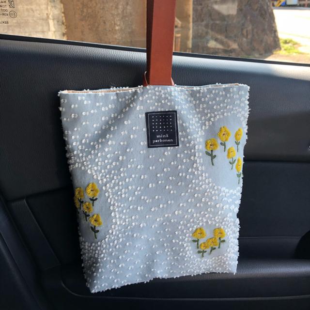 mina perhonen(ミナペルホネン)の美品 ミナペルホネン puisto bag   バラード ballade レディースのバッグ(トートバッグ)の商品写真