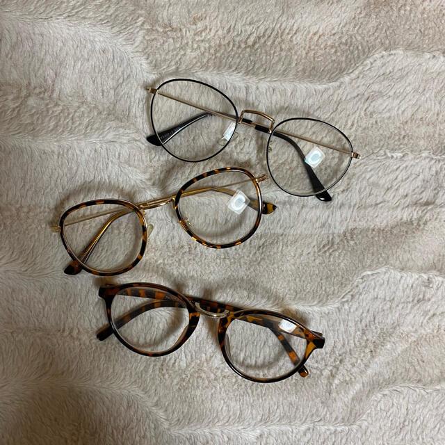 Zoff(ゾフ)の伊達メガネ レディースのファッション小物(サングラス/メガネ)の商品写真