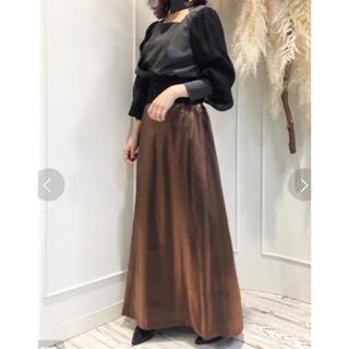 ラベルエチュード(la belle Etude)の【LA BELLE ETUDE】【Belle Vintage】シャイニースカート(ロングスカート)