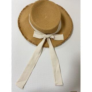 ビューティアンドユースユナイテッドアローズ(BEAUTY&YOUTH UNITED ARROWS)の麦わら帽子 リボンカンカン帽(麦わら帽子/ストローハット)