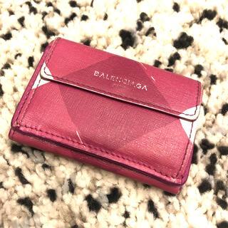 バレンシアガ(Balenciaga)のバレンシアガ ピンク 三つ折り財布 ペーパーミニウォレット(財布)