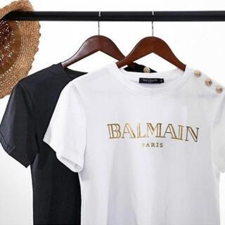 バルマン(BALMAIN)の【即納】インポートロゴTシャツ(Tシャツ/カットソー(半袖/袖なし))