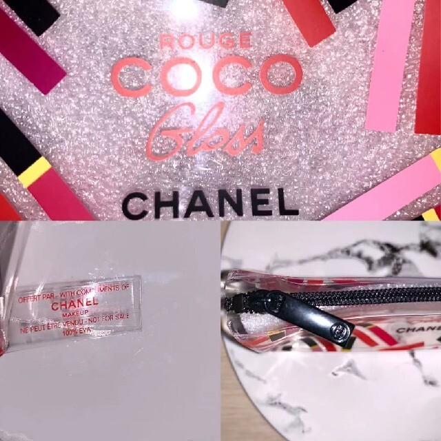 CHANEL(シャネル)の新品 シャネル CHANEL クリアポーチ 化粧ポーチ ペンケース レディースのファッション小物(ポーチ)の商品写真