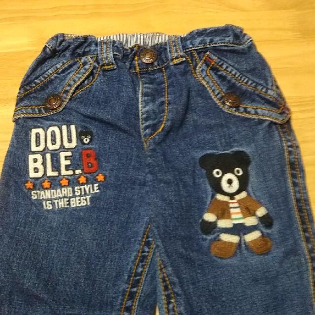 DOUBLE.B(ダブルビー)のミキハウス ダブルビー デニムパンツ 110 キッズ/ベビー/マタニティのキッズ服男の子用(90cm~)(パンツ/スパッツ)の商品写真