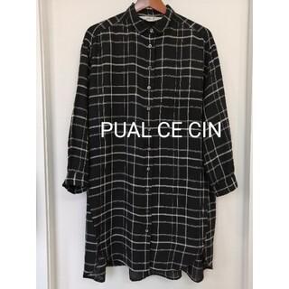 ピュアルセシン(pual ce cin)のPUAL CE CIN 長袖シャツ チェック黒(シャツ/ブラウス(長袖/七分))