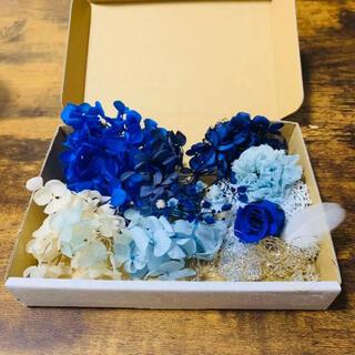 花材セット(blue)※選べるハーバリウムボールペン付(ドライフラワー)