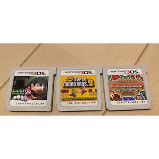 ニンテンドー3DS - ニンテンドー 3DS  スーパーマリオ ソフト 3点