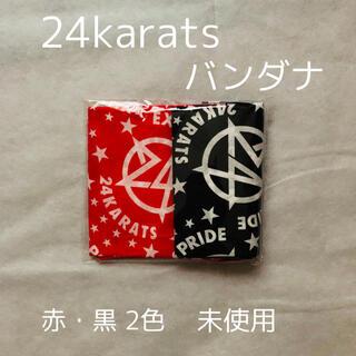 24karats - 【新品】24karats バンダナ 赤・黒 2色