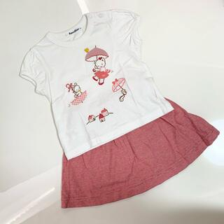 familiar - ファミリア Tシャツ&スカート セットアップ90センチ