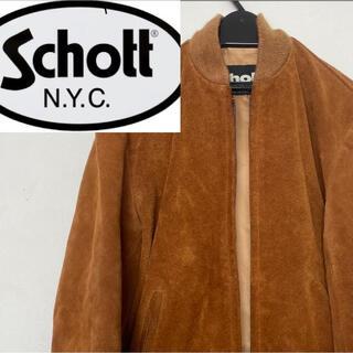 ショット(schott)のSchott USA 80-90年代 スウェードレザー ブルゾン ジャケット(ブルゾン)