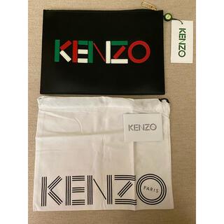 ケンゾー(KENZO)の新品 KENZO Paris クラシックロゴ レザークラッチバッグ マルチカラー(セカンドバッグ/クラッチバッグ)
