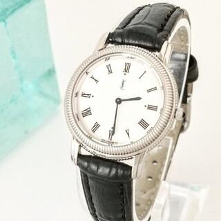 Saint Laurent - ⭐️1ヶ月保証 綺麗 サンローラン ローマン 白 腕時計レディース 着物 極美品